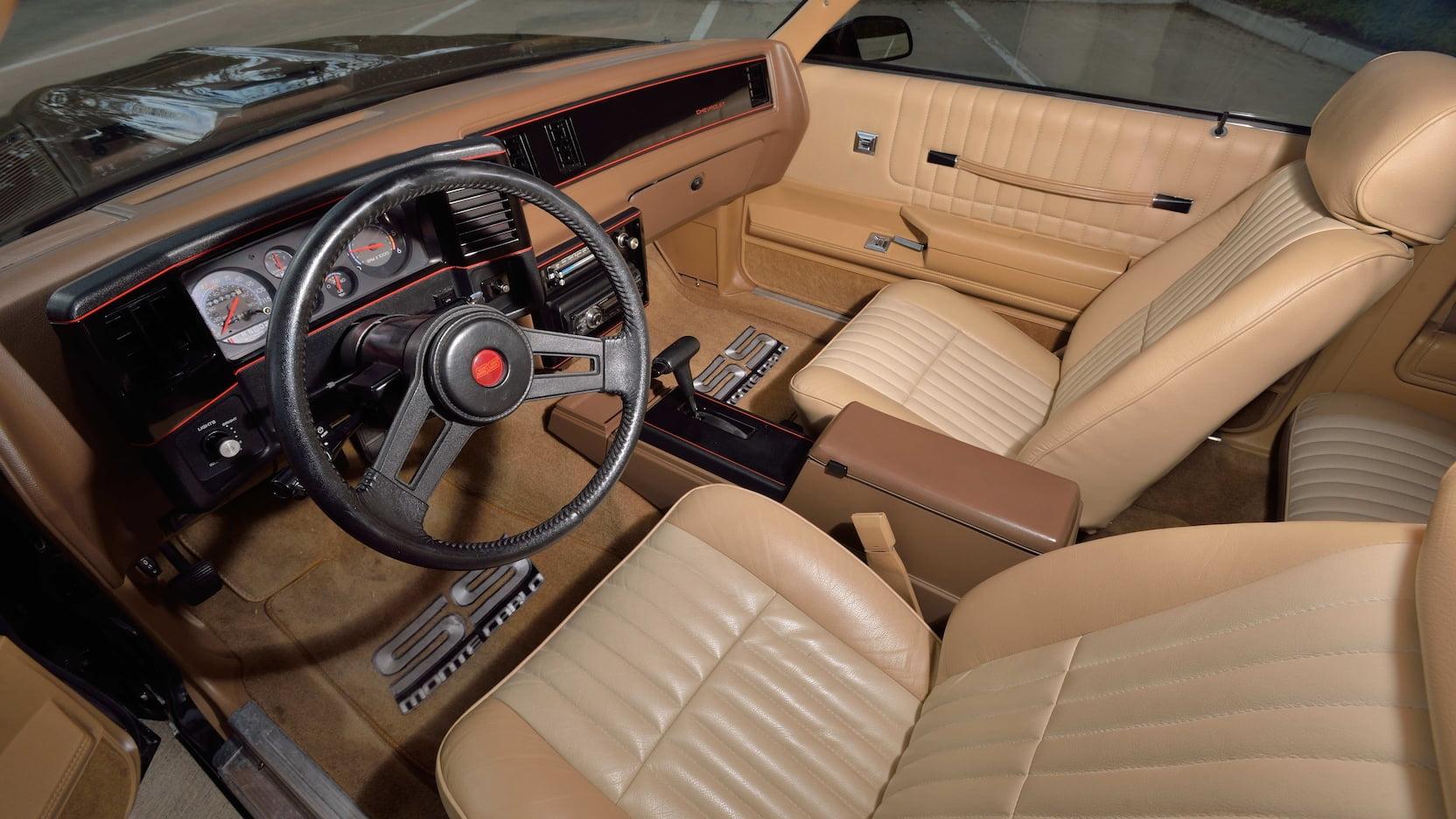 1988 Chevrolet Monte Carlo SS interior