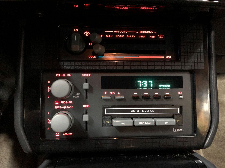 Lit-up Firebird Radio