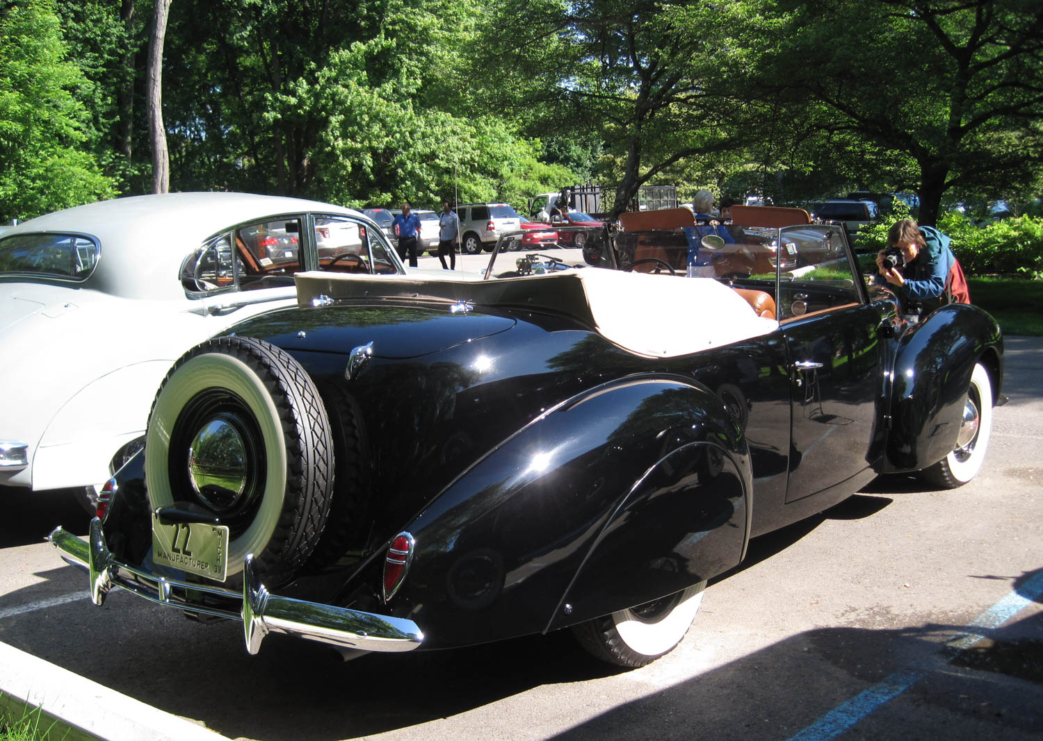 1939 Lincoln Continental prototype rear 3/4