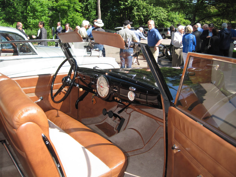 1939 Lincoln Continental prototype interior