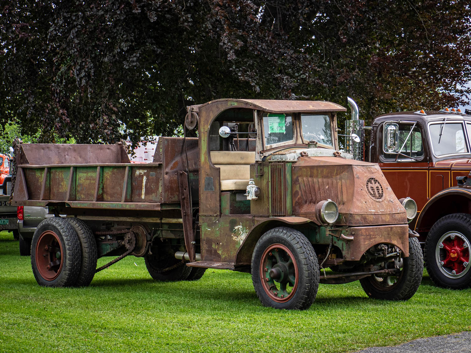 """This 1925 Mack AC was distinctly """"as-found."""" The chain-driven truck is a nod to Mack's great heritage."""