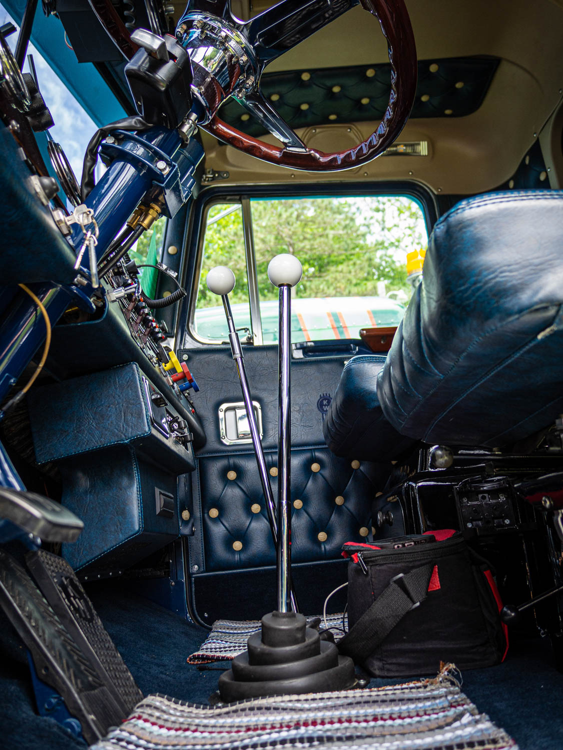 """Many old-school truckers take pride in their """"twin sticks,"""" which shift gears through a main and an auxiliary transmission. More than one veteran of the road grumbled to me or to his cohorts about, essentially, """"kids these days,"""" who """"think they know how to drive"""" when their rig's got an automatic."""