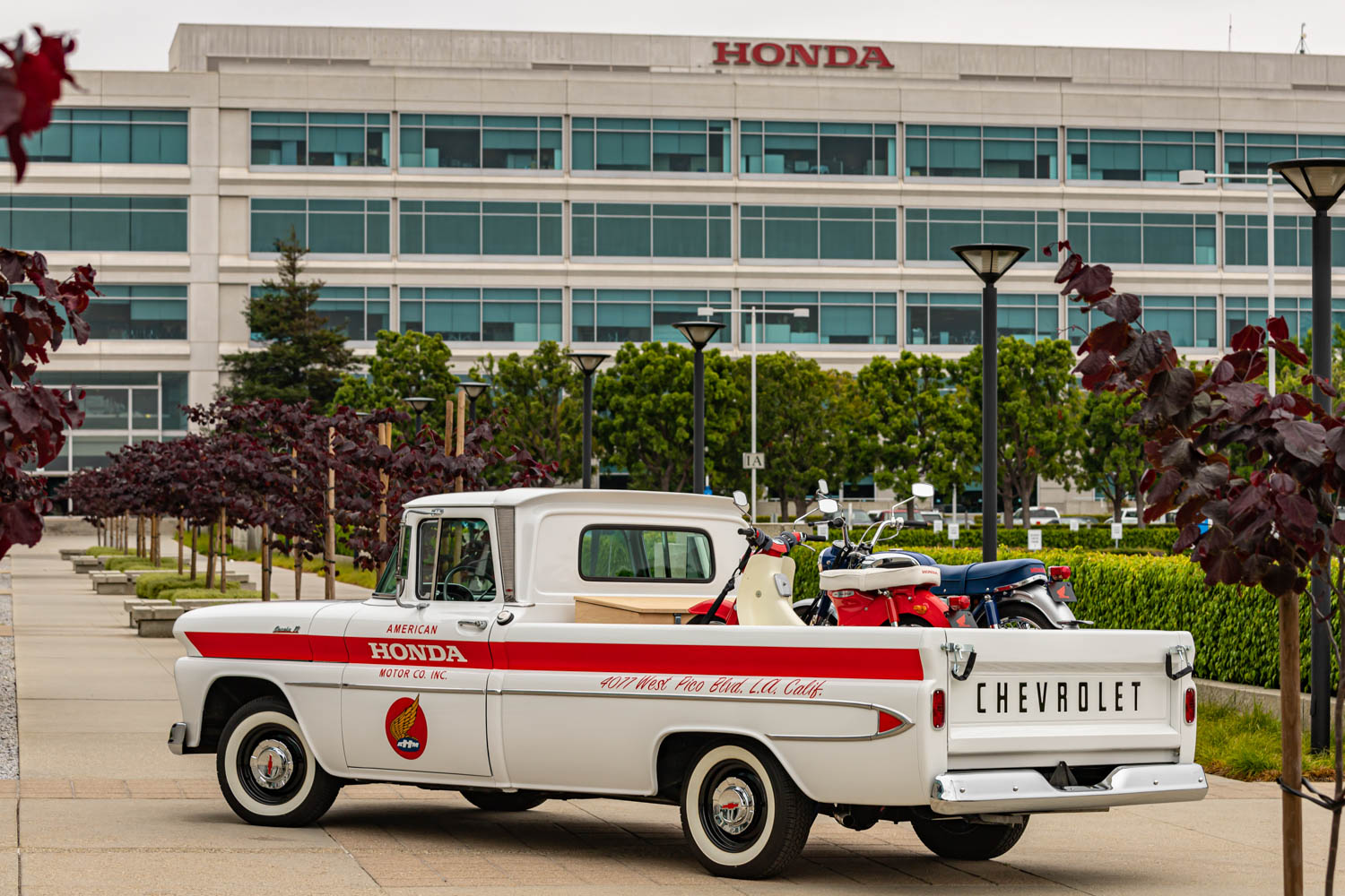 American Honda 60th Anniversary Chevy Delivery Truck rear 3/4