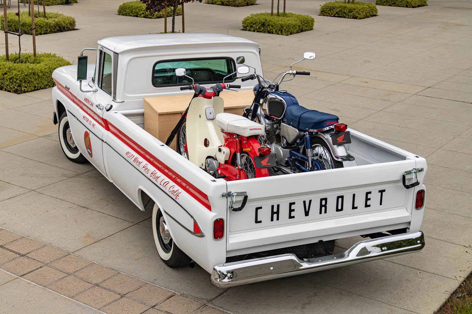American Honda 60th Anniversary Chevy Delivery Truck rear