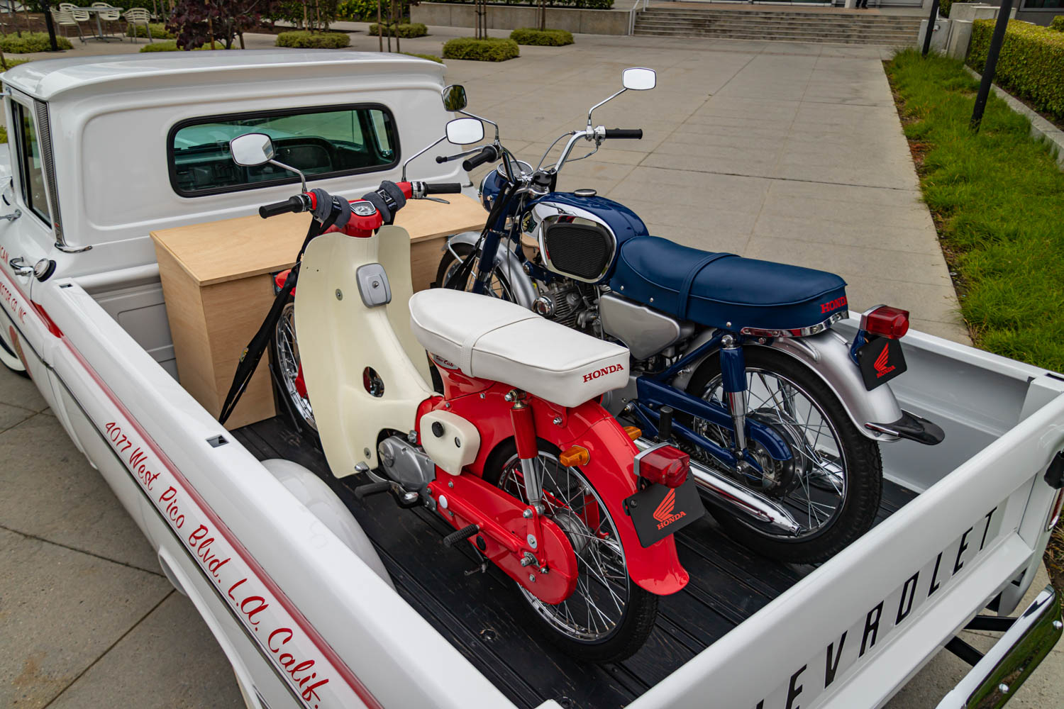 American Honda 60th Anniversary Chevy Delivery Truck motorcycle