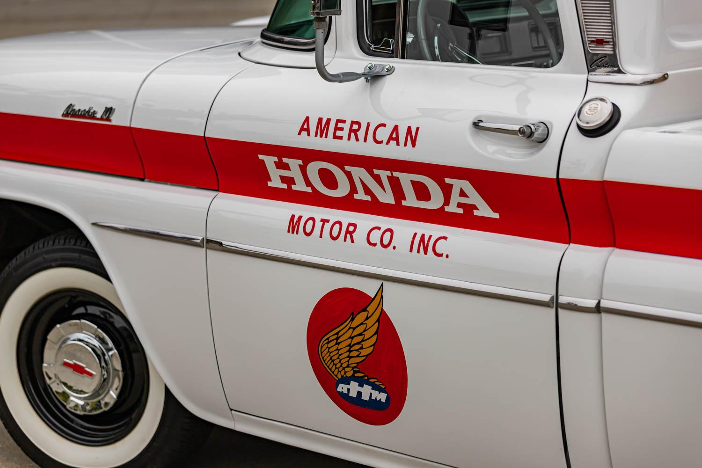American Honda 60th Anniversary Chevy Delivery Truck door