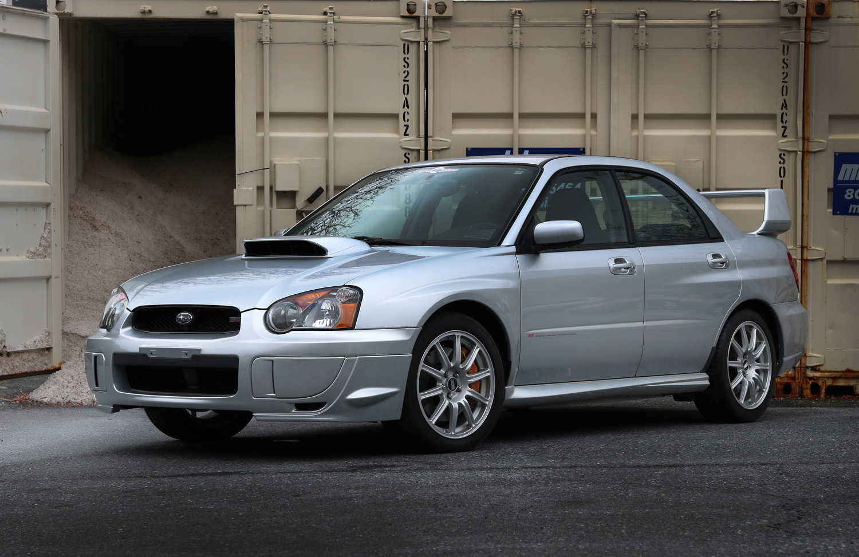 Silver 2004 Subaru Impreza WRX STI