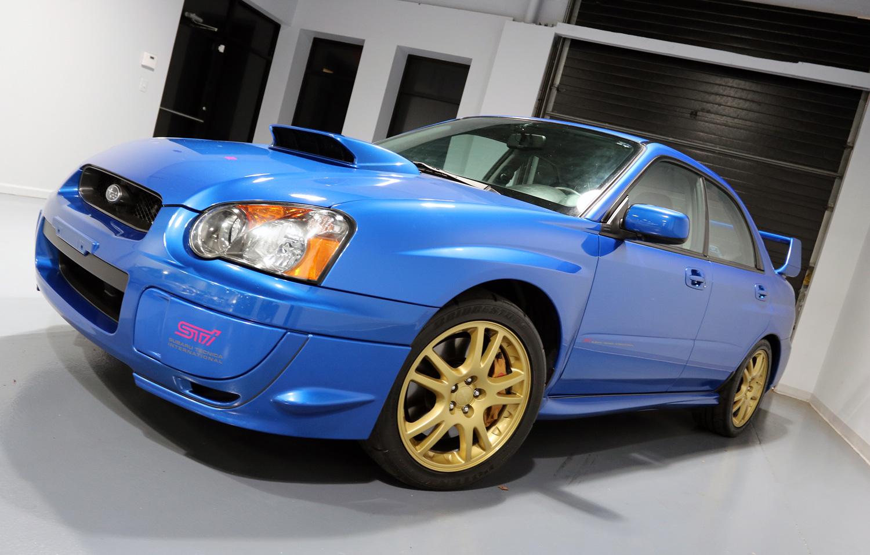 2004 Subaru Impreza WRX STI front 3/4