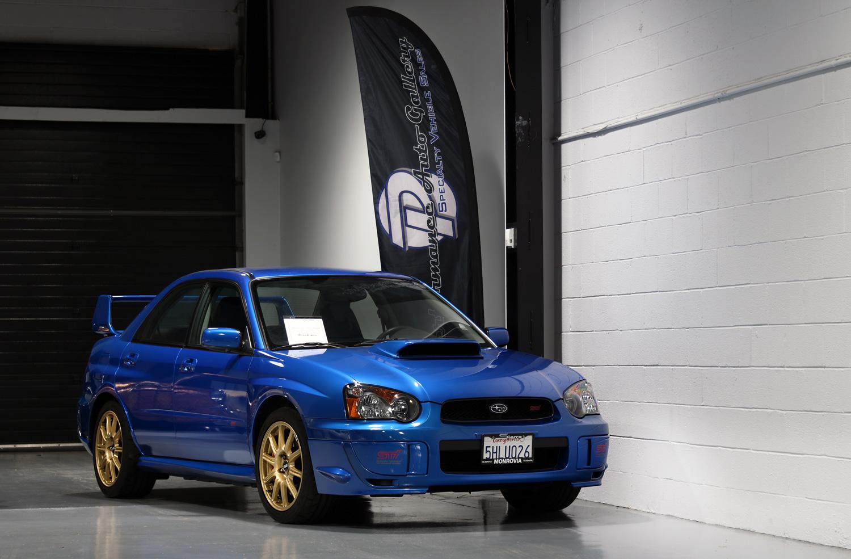 2005 Subaru Impreza WRX STI World Rally blue