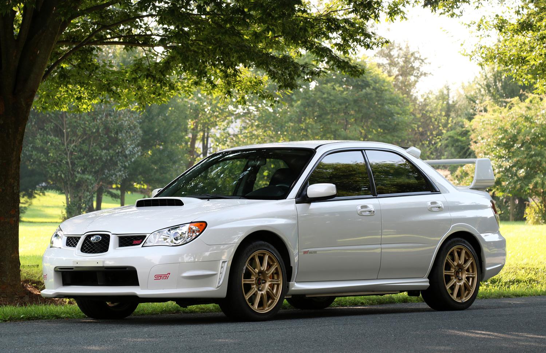 white 2007 Subaru Impreza WRX STI