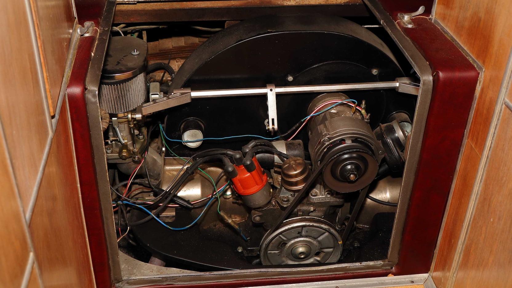 1955 Porsche Tempo Mikafa Sport Camper engine