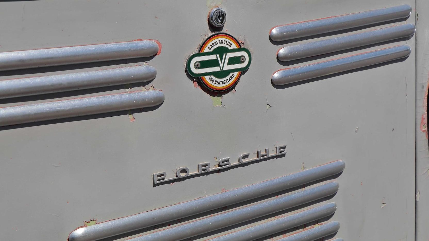 1955 Porsche Tempo Mikafa Sport Camper badge