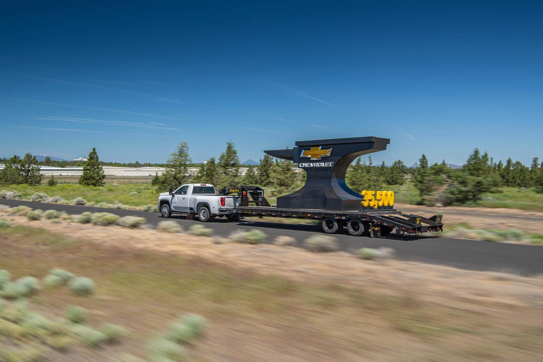 2020 Chevrolet Silverado 3500HD towing 35,500 pounds