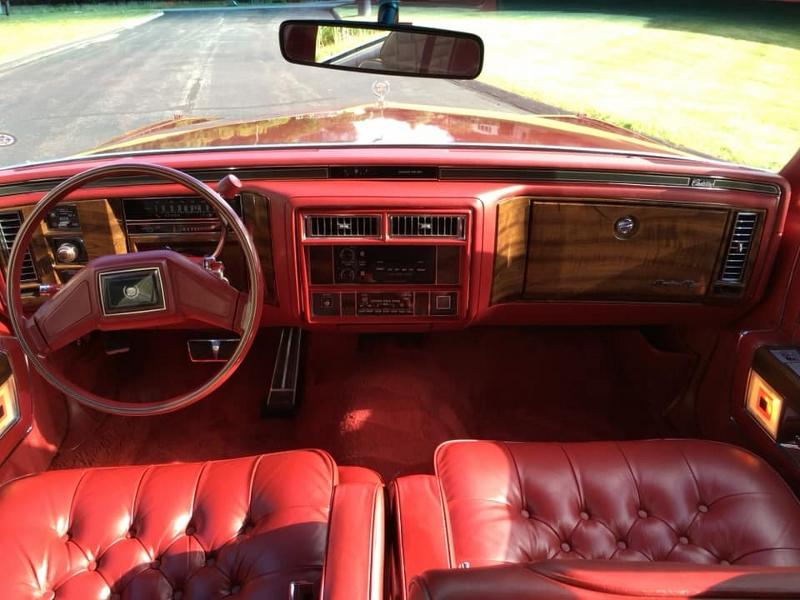 1987 Cadillac interior