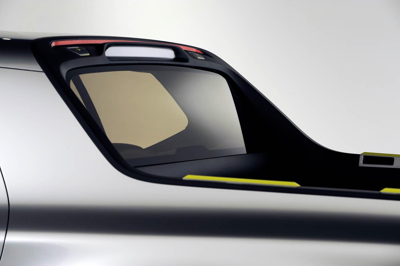 Hyundai Santa Cruz Crossover Truck Concept rear window