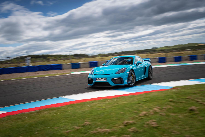 Blue Porsche 718 Cayman GT4