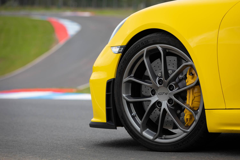 Porsche 718 Cayman GT4 wheel detail