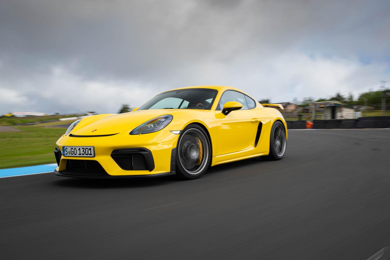 Porsche 718 Cayman GT4 driving