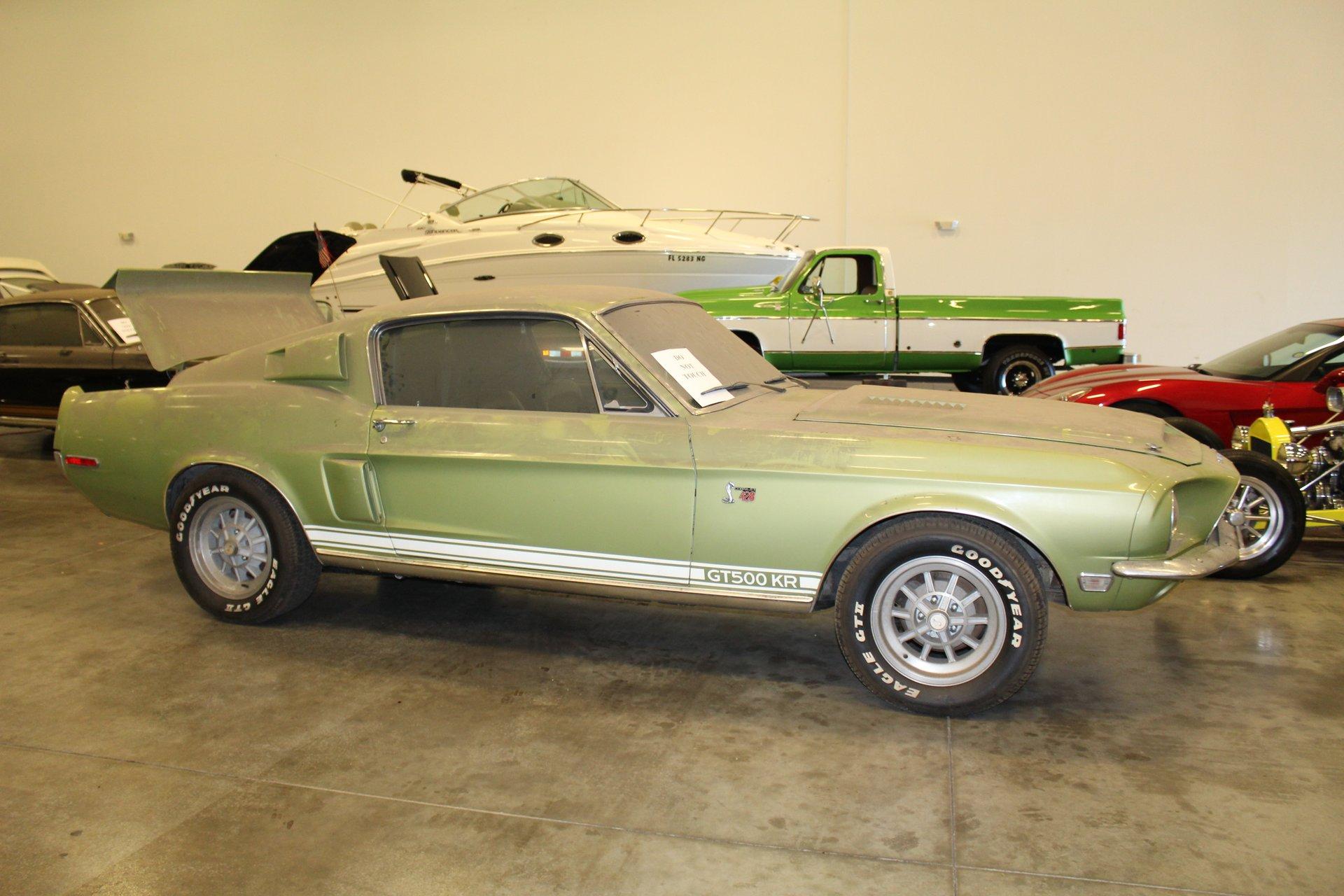 barn find 1968 Shelby GT500KR profile