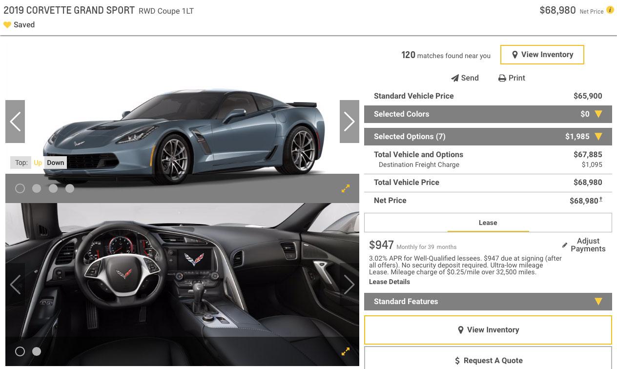 2019 Corvette Grand Sport Coupe 1LT