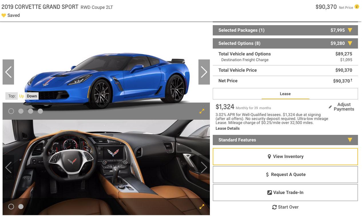 2019 Corvette Grand Sport Coupe 2LT Z07