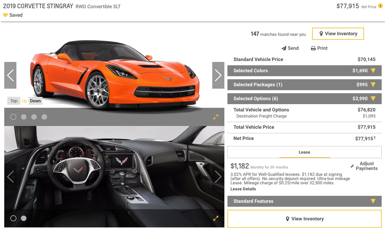 2019 Corvette Stingray Convertible 3LT