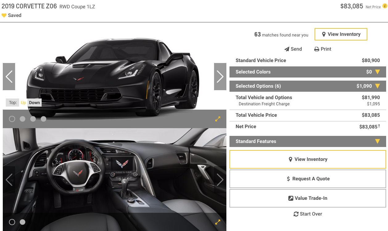 2019 Corvette Z06 Coupe 1LZ