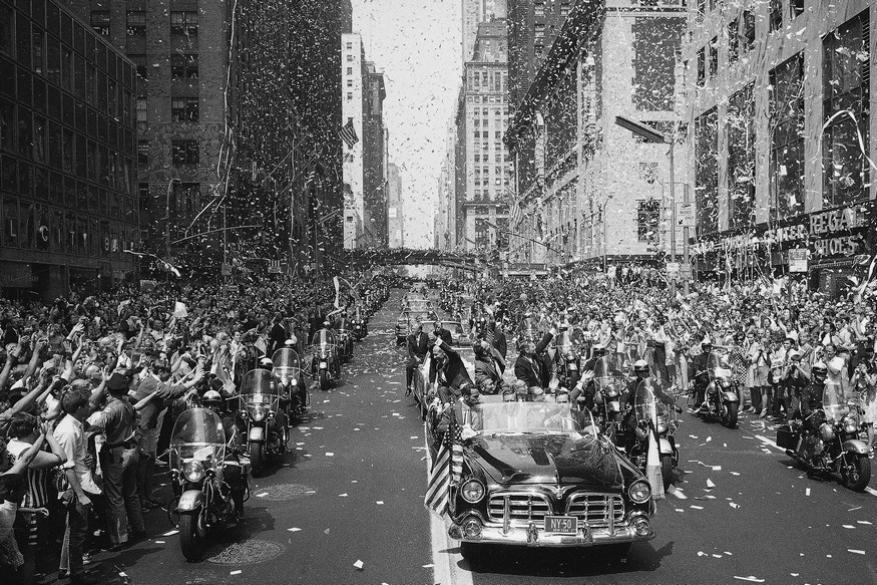 Apollo 11 ticker-tape parade in New York City in 1969