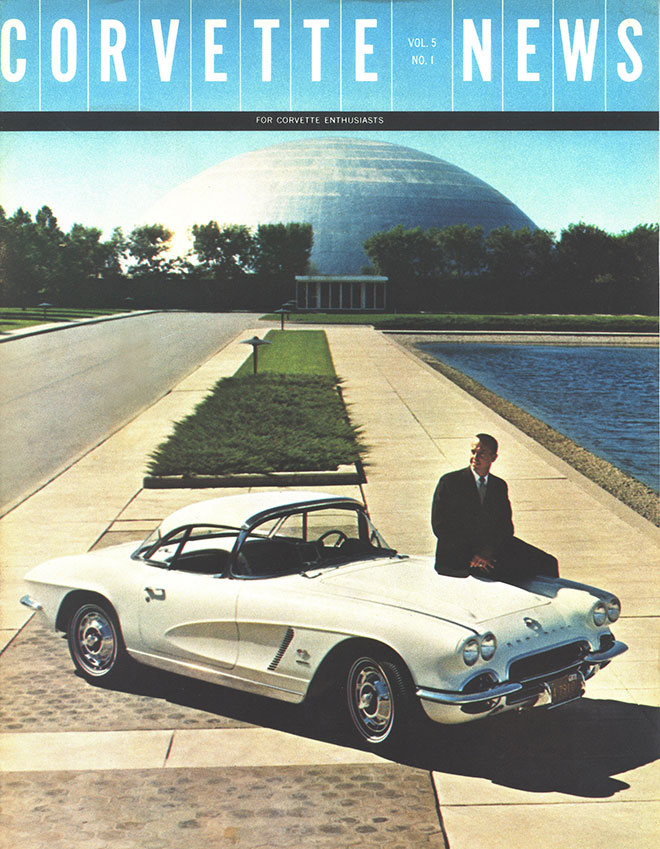 Alan Shepard with a 1962 Corvette