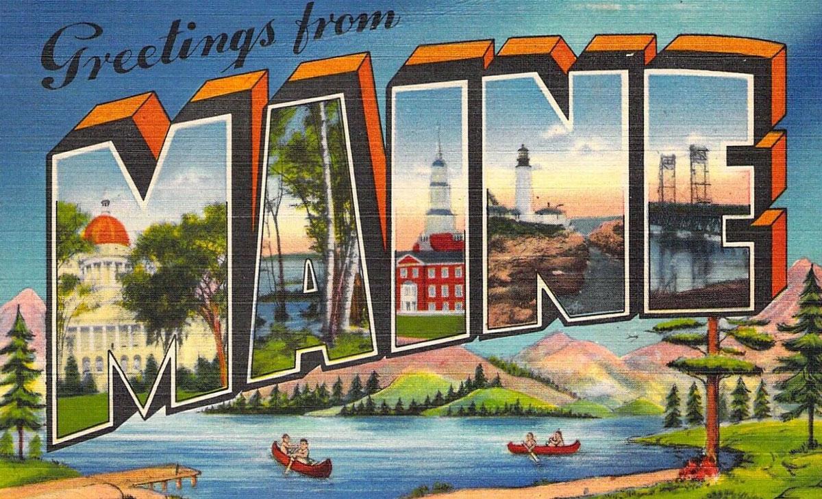 Maine State Banner