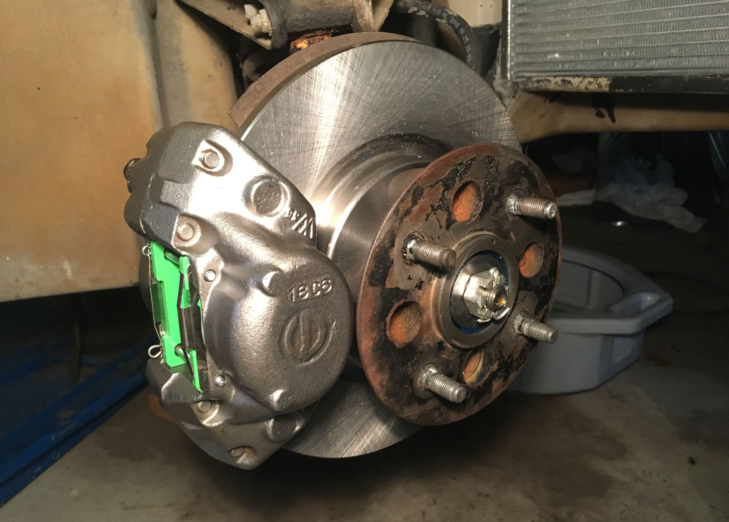 calipers and rotors