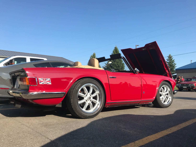 TR6 rear 3/4