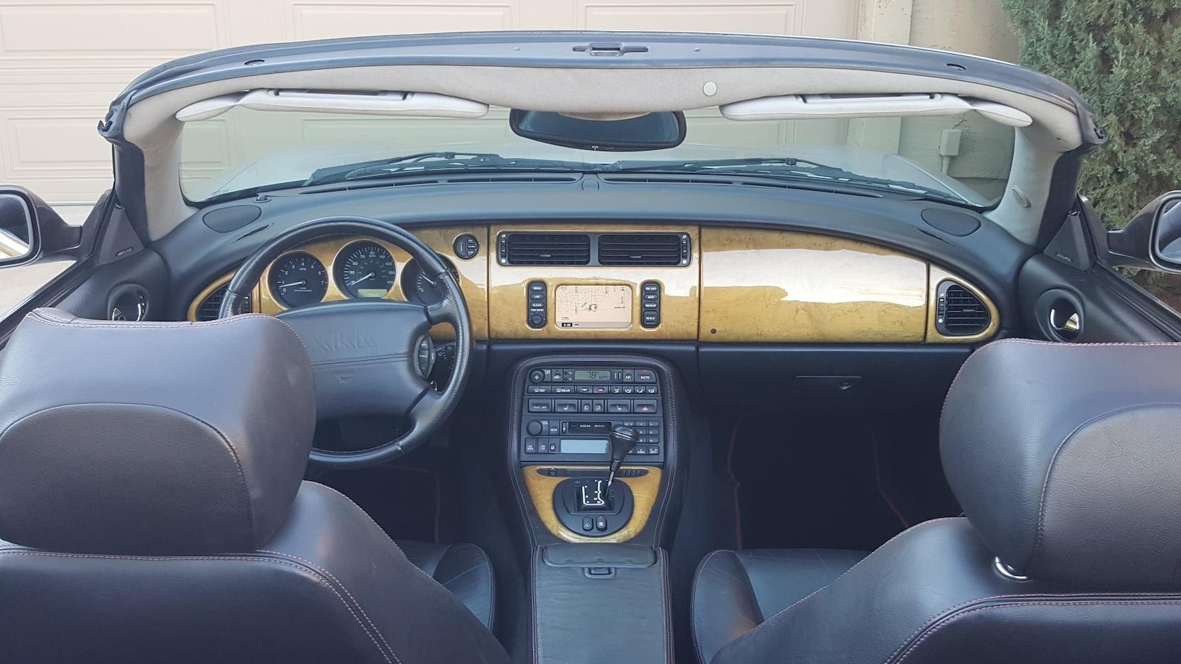 2001 Jaguar XKR interior
