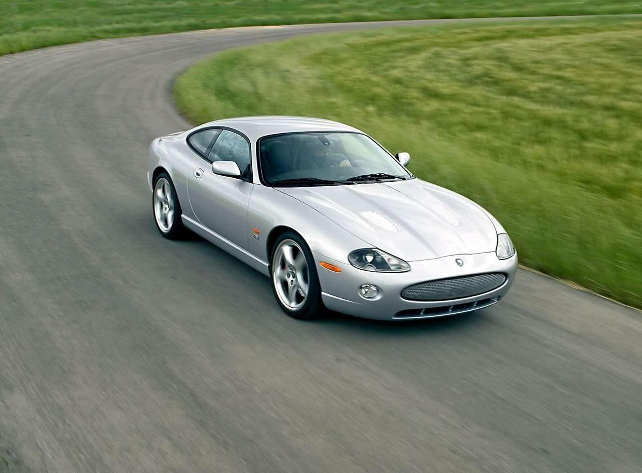 2005 Jaguar XKR driving