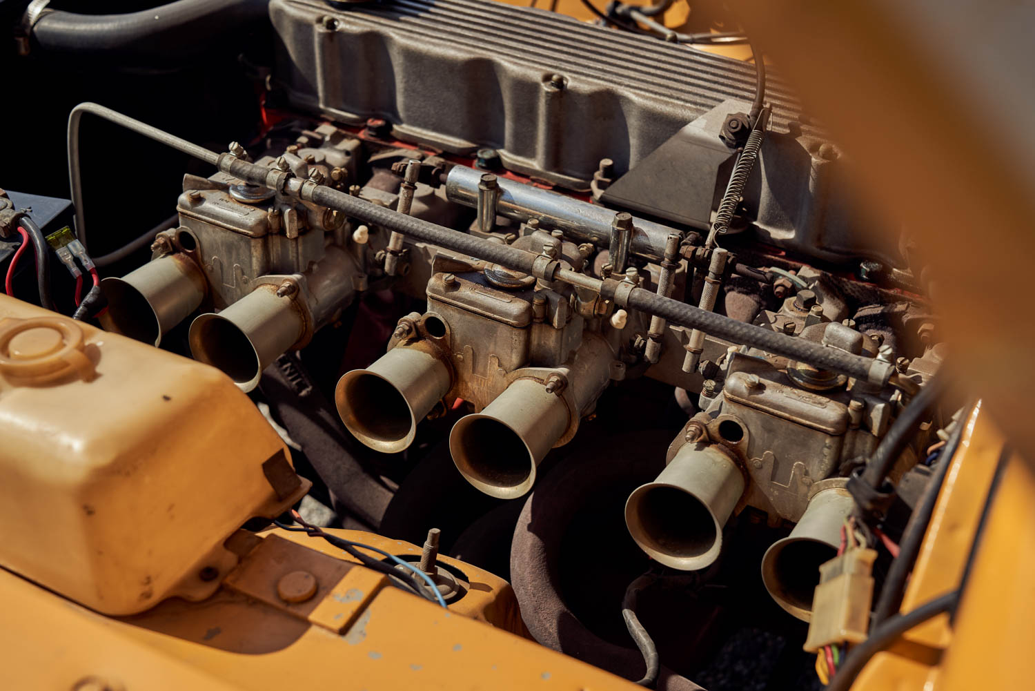 Three Italian-made Weber 45DCOE carburetors give the 265-cubicinch inline-six of the Aussie R/T a Latin snarl. It was a racing setup homologated for the road.