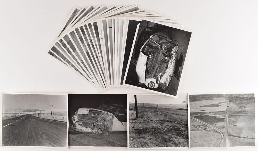 James Dean car crash photos