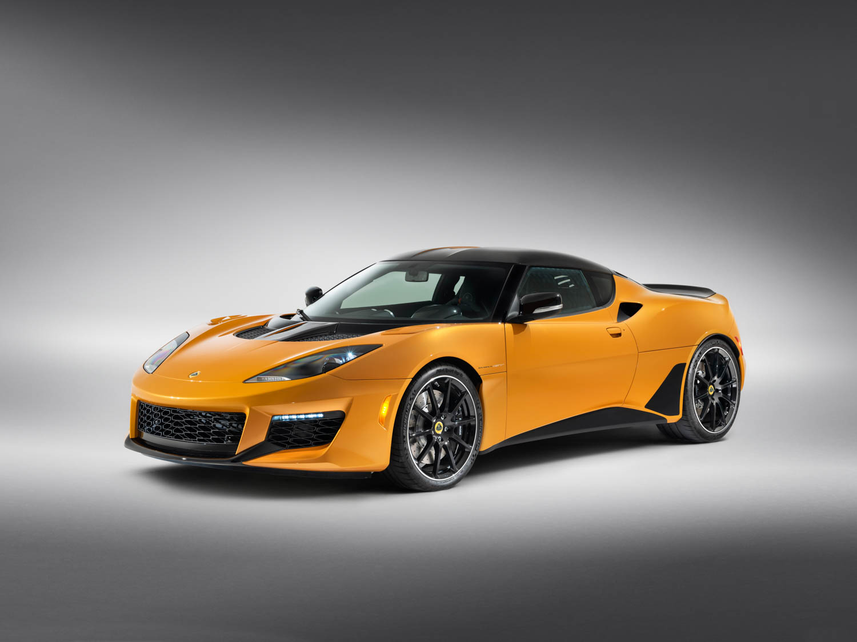 orange 2020 Lotus Evora GT front 3/4