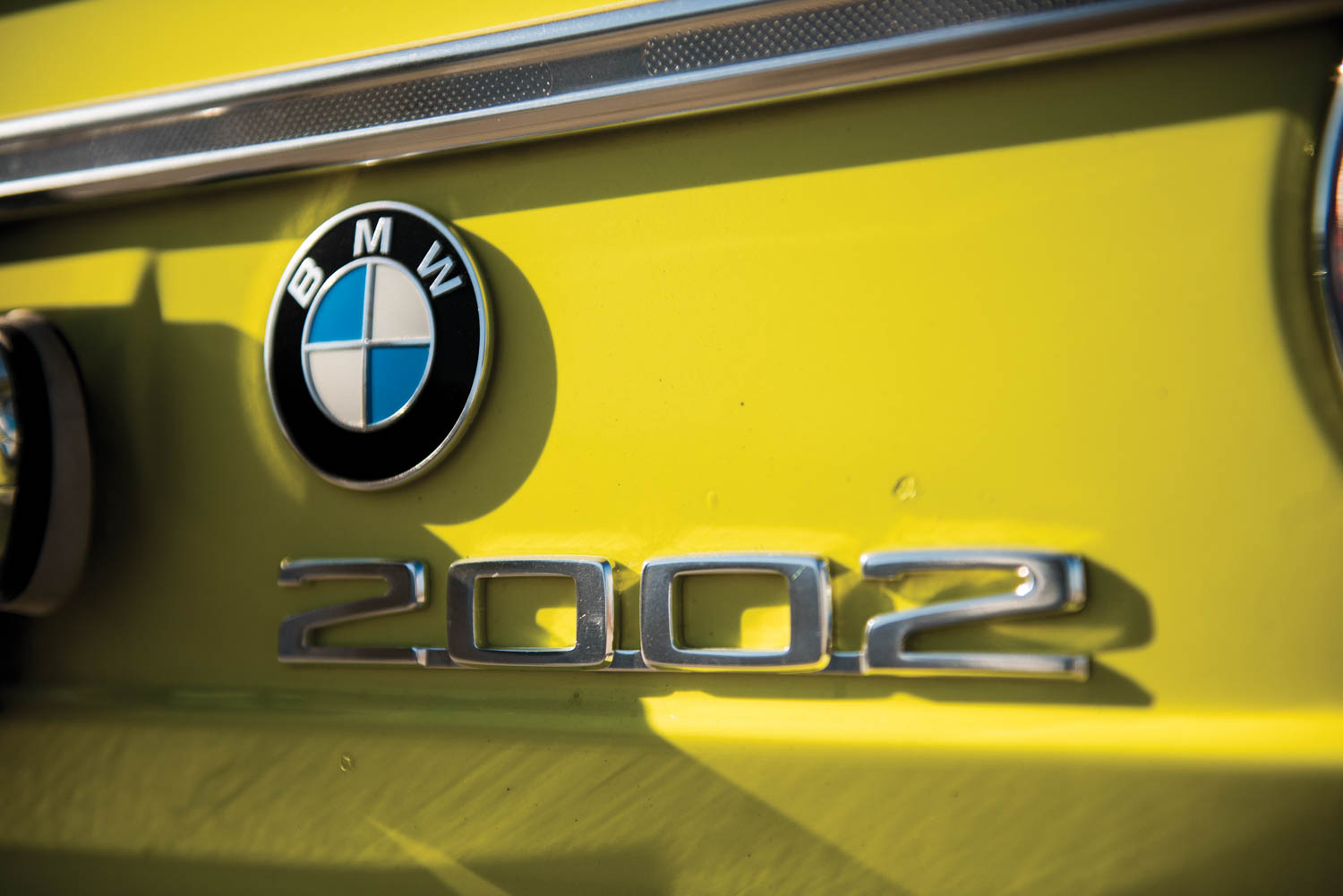1972 BMW 2002 rear badge
