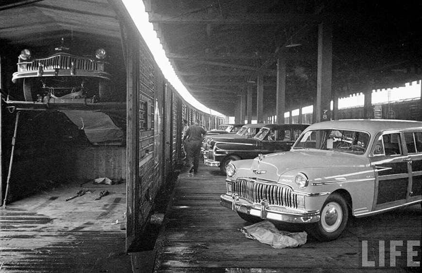 Cars on boxcars