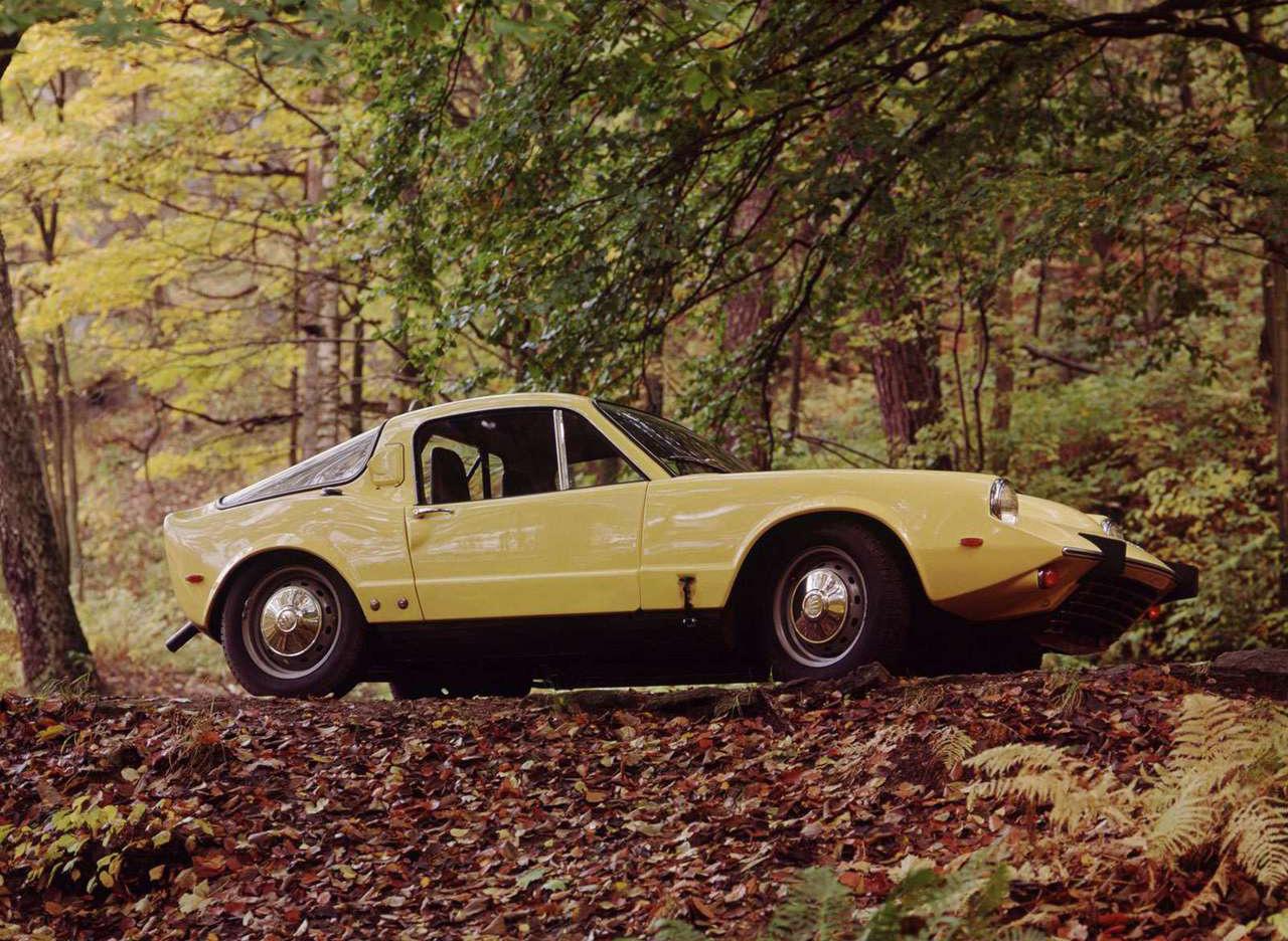 1970 Saab Sonett III in the woods