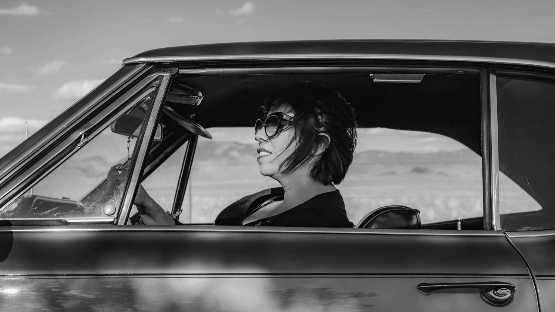 Jamie Saavedra in her 1967 Pontiac GTO