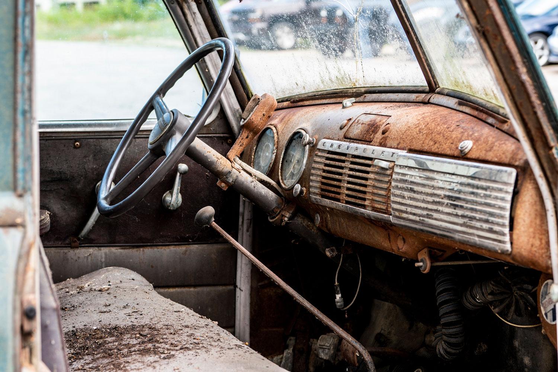 1950s Chevy 3600 Interior
