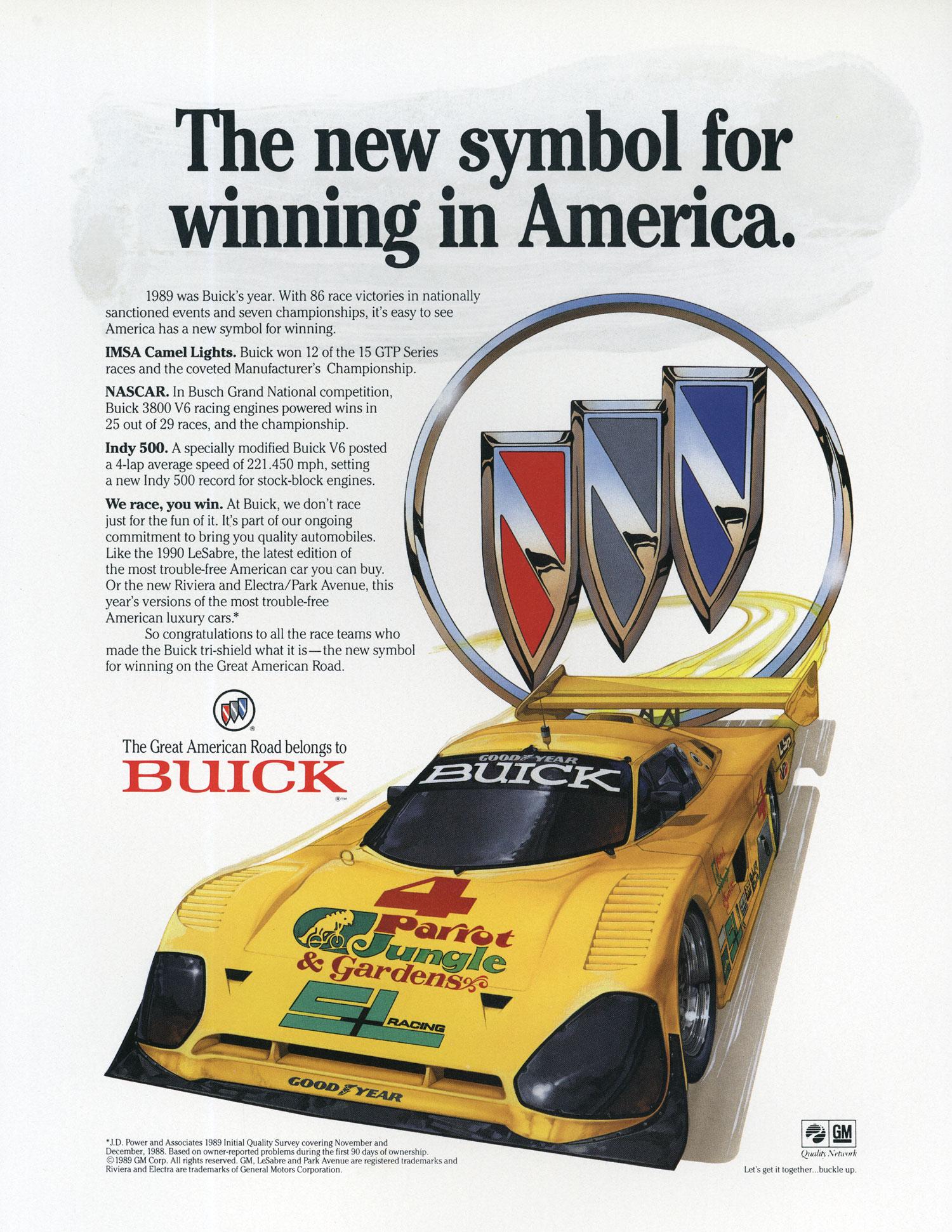 1989 Buick Racing Advertisement