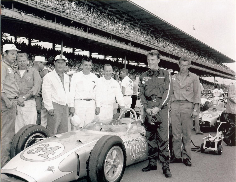 Dan Gurney racing in the 1962 Indy 500