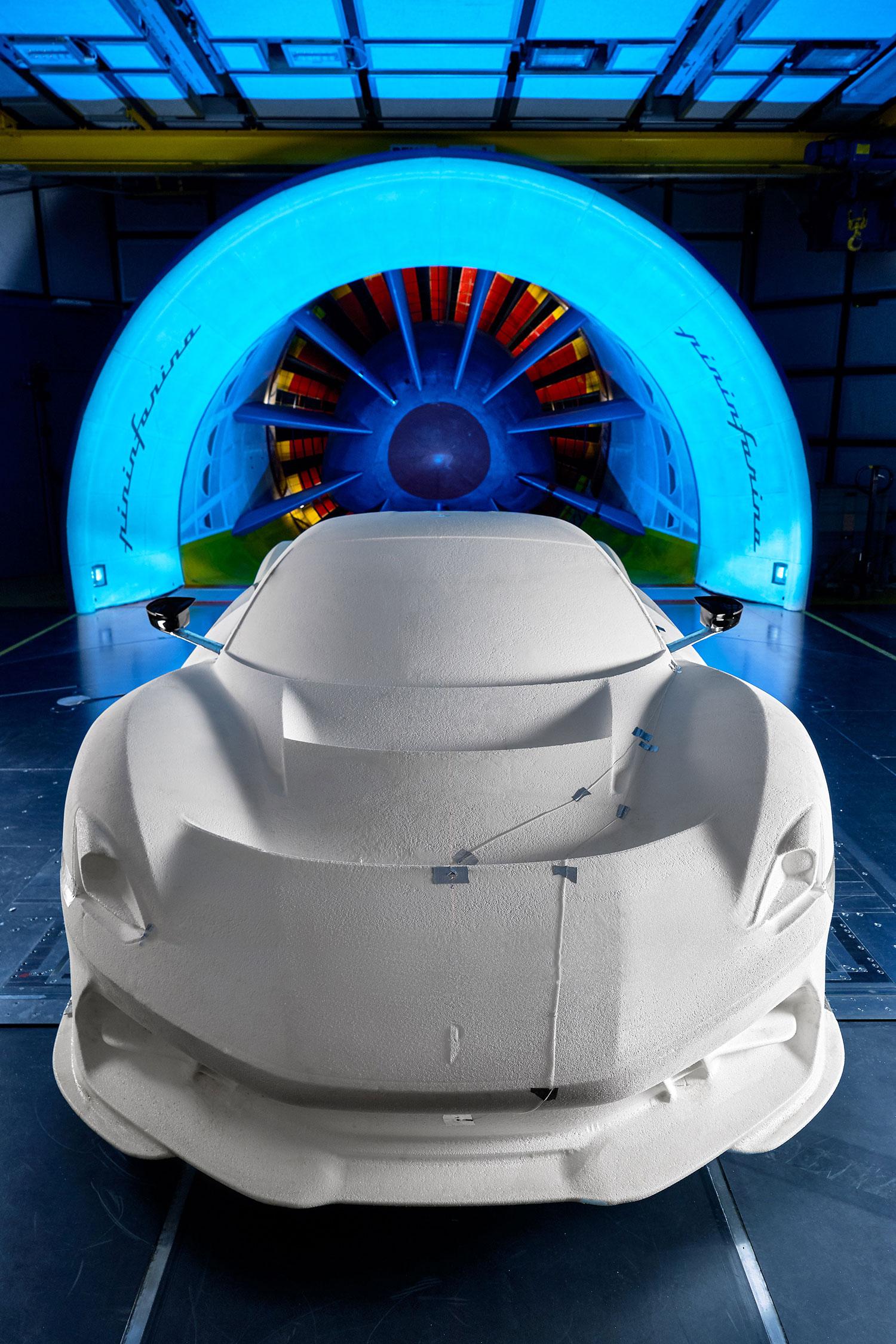 Pininfarina Battista wind tunnel testing
