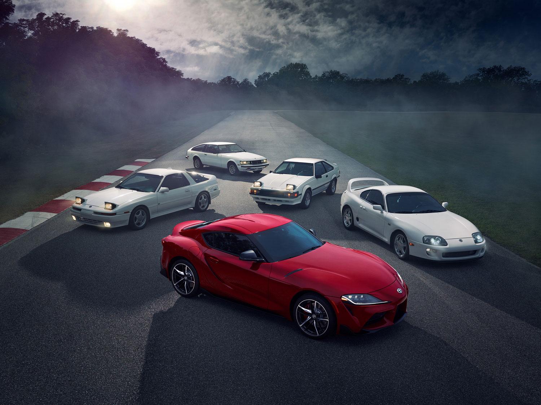 five generations of Toyota Supra
