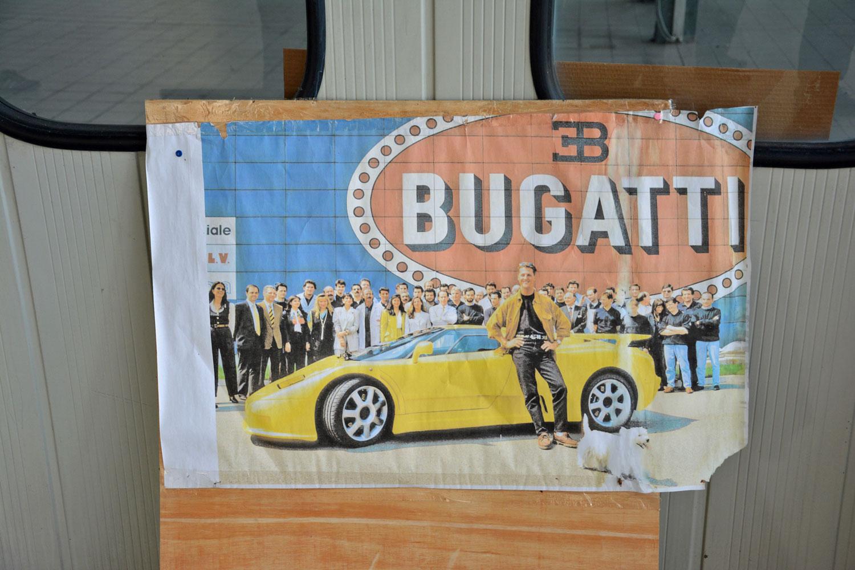 Bugatti advertisement in Campogalliano