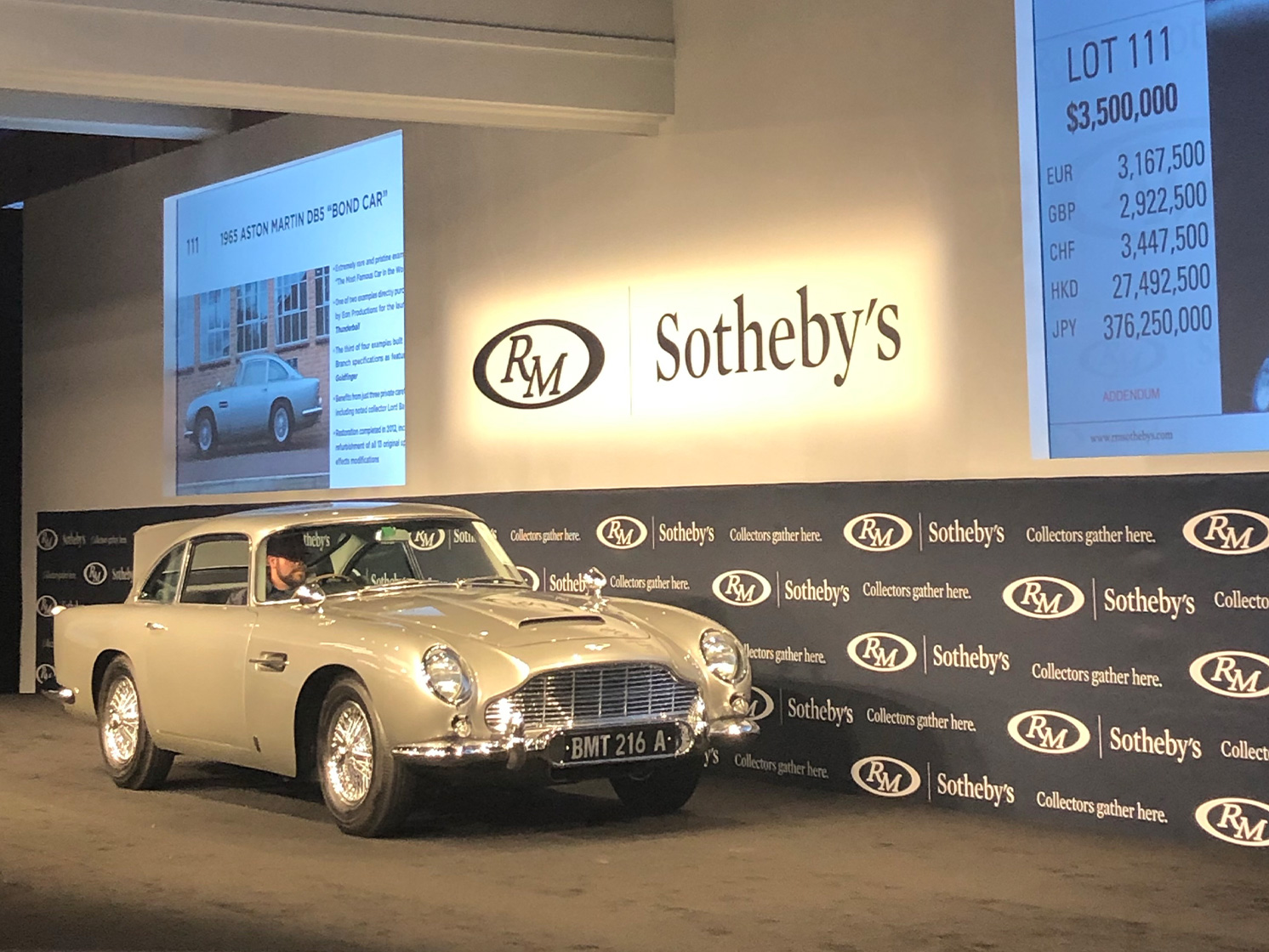 Bond Car at auction
