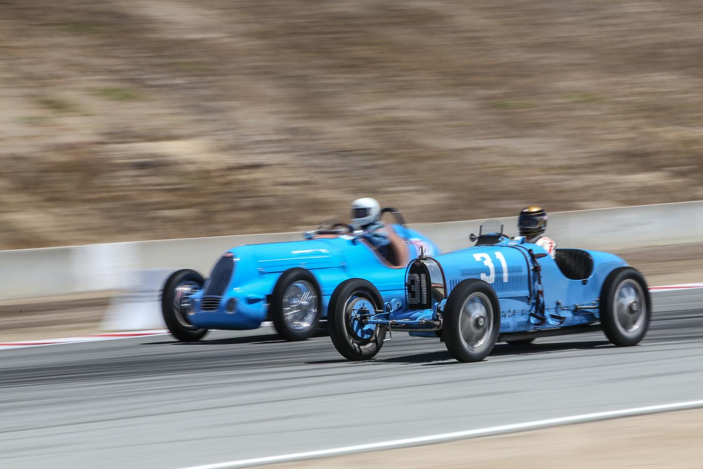 Bugatti Grand Prix racers Laguna Seca