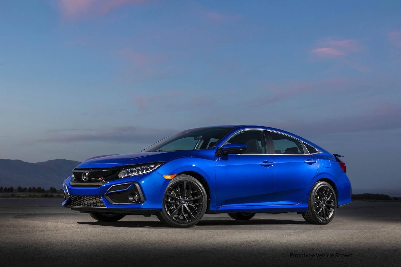 blue 2020 Honda Civic Si Coupe